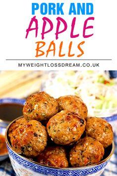Three Ingredient Slimming World Pork & Apple Balls | My Weight Loss Dream
