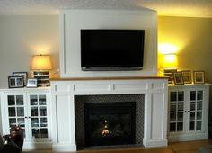 Possible design for built-ins beside fireplace.