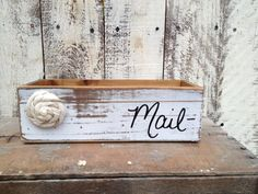 Shabby Chic Wooden Mail Holder by SassySouthernCharm