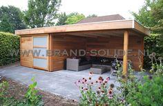 Modern tuinhuis plat dak in onderhoudsarm CEDER 700 x 350 ()