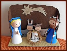 Never more boring: Births or nativity scenes with easy materials … – About Baby Christmas Art Projects, Christmas Paintings, Kids Christmas, Projects For Kids, Handmade Christmas, Decor Crafts, Diy For Kids, Christmas Crafts, Crafts For Kids