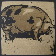 NICHOLSON, WILLIAM (1872-1949), 'THE LEARNED PIG', LITHOGRAPH, 1899.