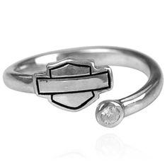 TJS 925 Sterling Silver Treble Clef Curl Toe Ring Adjustable Black Double Gem