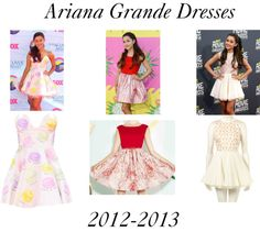 """Ariana Grande Dresses: 2012-2013"" by littlemixer1d ❤ liked on Polyvore"