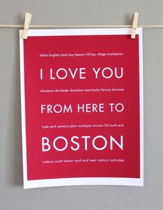 I love you from here to Boston