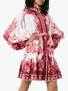 Zimmermann tie-waist Mini Dress - Farfetch Latest Fashion Dresses, Latest Dress, Village Girl, Special Occasion Dresses, Casual Dresses, Kimono Top, Dress Up, Women Wear, Tie
