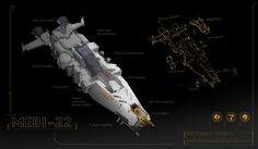 Spaceship Design by Linda Li on ArtStation. Linda Li, Sci Fi Ships, Spaceship Design, Space Crafts, Science Fiction, Gao, Spaceships, Artwork, Tech
