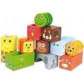 Wooden blocks with sound Savannah animals - Vilac