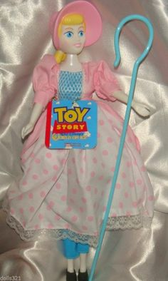 "Little Bo Peep Toy Story Doll Disney Molded Bonnet & shepherds cane with tag 12"" #Dolls"