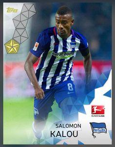 Salomon Kalou Hertha BSC (Bundesliga) Gold Parallel Card 2016 Topps KICK