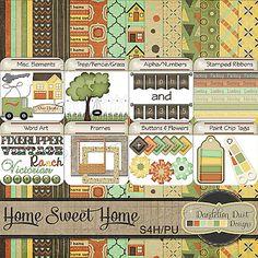 Digital Scrapbooking Home Sweet Home Kit By Dandelion Dust Designs #DandelionDustDesigns #DigitalScrapbooking