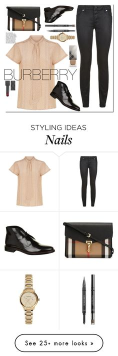 """EVERYTHING BURBERRY"" by nikitaku on Polyvore featuring Burberry"