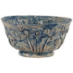 """Blue Bowl """"Drageoir """" by Guidette Carbonell, 1945  $5127"""