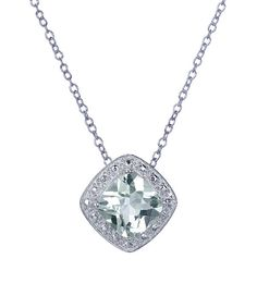 Look at this Prasiolite & Sterling Silver Cushion-Cut Pendant Necklace on #zulily today!