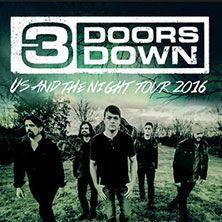 3 Doors Down: Us And The Night Tour 2016 // 19.10.2016 - 29.10.2016  // 19.10.2016 19:30 BERLIN/Columbiahalle // 20.10.2016 20:00 HAMBURG/Mehr! Theater am Großmarkt // 22.10.2016 20:00 KÖLN/Palladium Köln // 24.10.2016 20:00 MÜNCHEN - FREIMANN/Zenith, die Kulturhalle // 25.10.2016 20:00 STUTTGART/Porsche-Arena // 26.10.2016 20:00 WIEN/Planet.tt Bank Austria Halle Gasometer // 26.10.2016 20:01 WIEN/Planet.tt Bank Austria Halle Gasometer // 29.10.2016 20:00 OFFENBACH AM MAIN/Stadthalle…