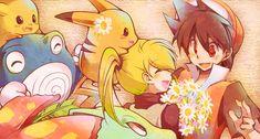 Tags: Pokémon, Pokémon SPECIAL, Pikachu, Yellow (Pokémon), Poliwrath, Red (Pokémon), Venusaur, Meganium, @tom, Chuchu (Pokémon), Pika (Pokémon)