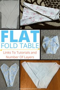 Master Table Of Flat Folds (For Folding Flat Cloth Diapers) diapering Prefold Diapers, Newborn Diapers, Cloth Nappies, Diapering, Cloth Pads, Couches, Toddler Training Pants, Flour Sack Towels, Baby Boy Or Girl