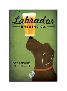 Made to Order LABRADOR Craft Beer Brewing Company graphic art canvas 12x18x1.5 inches SIGNED. $125.00, via Etsy.