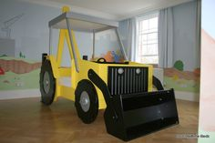 little boy tractor room. How cute is that?!