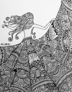 Free Spirit, 2014 is part of Art drawings - Doodle Art Drawing, Zentangle Drawings, Mandala Drawing, Pencil Art Drawings, Art Drawings Sketches, Zentangles, Doodle Sketch, Mandala Art Lesson, Mandala Artwork
