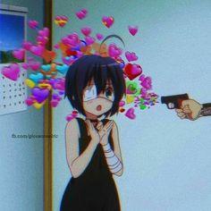 New anime aesthetic wallpaper iphone Ideas Sad Anime, Anime Love, Manga Anime, Anime Art, Rikka And Yuuta, Manga Kawaii, Tamako Love Story, Wallpaper Iphone Love, Harry Potter Anime