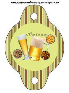 Cerveza, papas fritas y maní: imprimibles gratuitos.