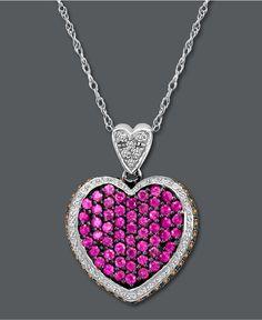 Le Vian Pink Sapphire Heart Pendant