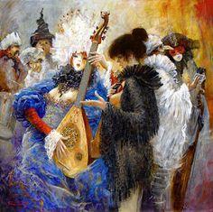 Marcel Nino Pajot: Les Notes Bleues Marcel, Vintage Menu, Alcohol Ink Painting, Beautiful Costumes, Mardi Gras, Masquerade, Illustrators, Modern Art, Erotic