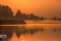 a misty morning by melchiorre_pizzitola  beautiful fog foggy italy lake landscapes light lombardy mantua morning nature reflection river sky