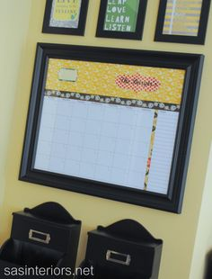 Personalized Dry Erase Calendar. My cousin made me one for my bday! So awesome :)
