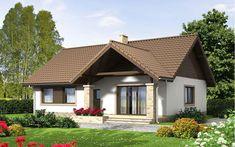 Wizualizacja Mokka 4 - 2 Merlin Home, Design Case, Gazebo, House Plans, Porch, Minimalism, Exterior, Outdoor Structures, House Design