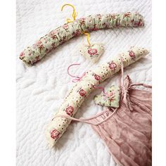 Make pretty padded hangers for delicate items. Get the pattern: http://www.prima.co.uk/craft/padded-coat-hangers