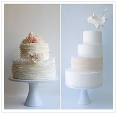 These two cakes make me want to make a wedding cake.  Come on weddings, come sooner!!!