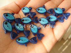 Quilled Bluefish by ZeA-Quilling Dream. ❣Julianne McPeters❣ no pin limits Quilling Dolls, Paper Quilling Earrings, Quilling Work, Origami And Quilling, Quilling Paper Craft, Paper Crafts, Paper Quilling Tutorial, Paper Quilling Patterns, Quilled Paper Art