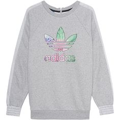 ADIDAS ORIGINALS Train Flo Sweat Grey // Sweater with label print (1.865 UYU) ❤ liked on Polyvore featuring tops, hoodies, sweatshirts, clothing - ls tops, adidas, sweatshirt, oversized sweatshirt, grey sweatshirt, zip sweatshirt and long sweatshirt