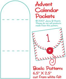 Advent Calendar Pockets tutorial