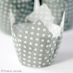 Star print tulip baking cups by Torie Jayne Falling Stars, Love Stars, Tulip Cake, Winter Wonderland Theme, Cupcake Cases, Star Constellations, Space Party, Baking Cups, Star Print