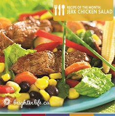 Enjoy a taste of the Caribbean with this meal-sized jerk chicken salad #recipe.