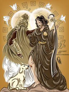 Iponda by OradiaNCPorciuncula on DeviantArt Babalu Aye, Orisha, Deviantart, Gods And Goddesses, Princesas Disney, Black Art, Afro, Anime Art, Mandala