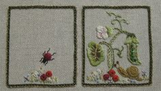 Carolyn Pearce Home Sweet Home workbox ladybird and small flowers on the needlebook Sewing Box, Sewing Notions, Sewing Kits, Embroidery 3d, Cross Stitch Embroidery, Cross Stitch Finishing, Miniature Crafts, Needlepoint Kits, Sewing Accessories
