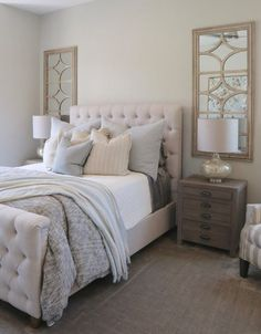 Bedroom Design and Decor Cool 34 Easy Tips to Decorate Small Master Bedroom with Neutral Color rengu Small Master Bedroom, Master Bedroom Design, Small Bedrooms, Master Bedrooms, Girl Bedrooms, Master Suite, Teenage Bedrooms, Large Bedroom, Guest Bedrooms