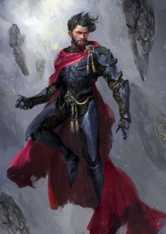 Marvel and DC Superheroes Go Medieval in This Fantasy-Inspired Fan Art Series – Page 4 – Chip Chick Male Character, Character Portraits, Fantasy Character Design, Character Design Inspiration, Dc Comics Art, Marvel Dc Comics, Flash Comics, Dungeons And Dragons, Univers Dc