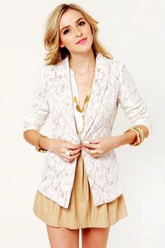 White Lace Blazers for Women - Charming Lace Blazers for Women http://www.loveitsomuch.com/