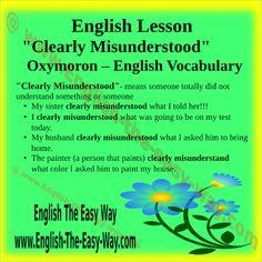 'Clearly misunderstood'.