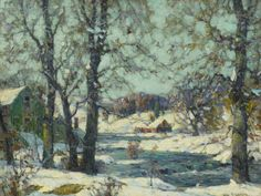 """Winter, Woodstock,"" John Fabian Carlson, ca. 1030, oil on canvas, 18 x 24"", private collection."