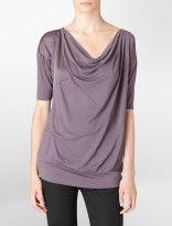 I love cowlneck shirts and this color. Calvin Klein.