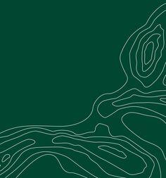 """Grafikelement. Die drei """"Odsherred Bögen"""" sind charakteristisch für die Landschaft. Als grafisches Element werden diese Bögen in stilisierten Konturlinien verwendet."""