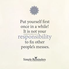 """""""Put yourself first"""" by Unknown Author"""