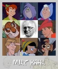 Milt Kahl - one of the Nnine old men of Disney  He drew all these characters...I am most impressed with Peter Pan. Well done, sir. And R.I.P.