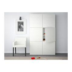 BESTÅ Opberger met deuren - Laxviken wit - IKEA